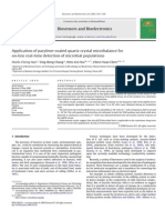 Parylene QCM for Microbial Populations