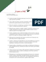 Dez Passos Para a Paz