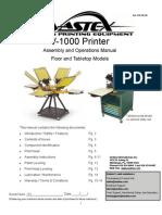 01-08-042 V-1000 Printer Manual