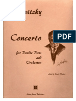 Serge Koussevitzky - Concerto for Double Bass and Orchestra Op.3, (Orchestra Tuning), Piano