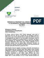 Discours Du 10 Ffevrier 2013 UN
