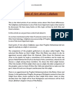 Sunni Point of View on Caliphate