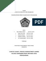 CONTOH TAHAPAN REKRUITMENT DALAM SUATU PERUSAHAAN.doc