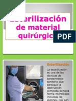 Esterilización de material quirúrgico