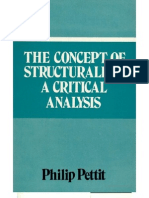 Philip Pettit the Concept of Structuralism a Critical Analysis 1975