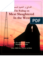 The Ruling on Meat Slaughtered in the West