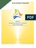 Politica de Descentralizacion Territorial Para El Desarrollo Edifin