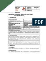 AUTOMATISMOS ELÉCTRICOS Y ELECTRÓNICOS- CONTENIDO SINTÉTICO