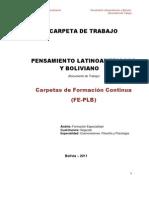 Carpeta Pensamiento Latinoamericano y Boliviano