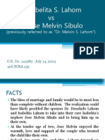 Lahom vs Sibulo