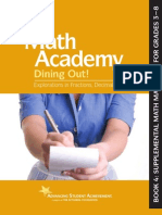 Math Academy Dining Out