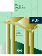 2009 Annual Mergeer Decisions Report to Congress