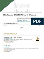 55th Grammy Awards Winners List