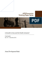 Is Growth in Asia and the Pacific Inclusive?