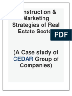 construction & marketing Strategies of Real Estate sector