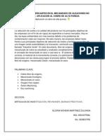 REDUCCIÓN DE LUBRICANTES EN EL MECANIZADO DE ALEACIONES NO FERREAS