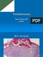 Trichilemmoma, M 61, Left Eyelid