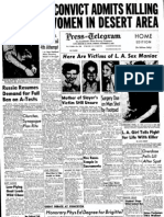Long Beach Press Telegram - October 31, 1958 part 1 Harvey Glatman