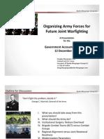 Colonel Macgregor's GAO Presentation 12 December 2012