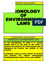 Chronology of Environment Laws