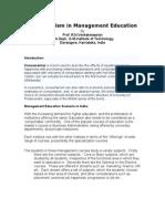 Consumerism in Management Education