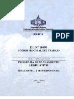 To-DL_16896 - Codigo Procesal Del Trabajo - Vigente Con Derogaciones