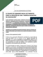 NOTA AGENCIA MUNICIPAL DE COLOCACIÓN
