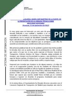 PALABRAS ALCALDESA PRESENTACIÓN JORNADA TÉCNICA SOBRE MOVILIDAD SOSTENIBLE