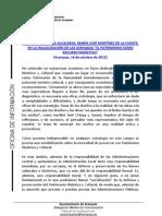 INTERVENCIÓN ALCALDESA INAUGURACIÓN JORNADAS EL PATRIMONIO COMO RECURSO DIDÁCTICO