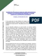 PALABRAS ALCALDESA PARLAMENTO EUROPEO COOPERACIÓN AL DESARROLLO