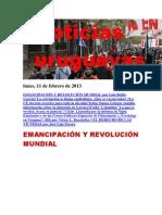Noticias Uruguayas Lunes 11 de Febrero Del 2013