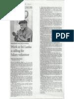 Work in Sri Lanka