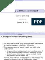 Franz Bopp and Wilhelm von Humboldt