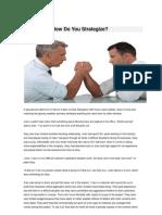 Negotiation How Do You Strategize