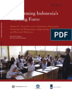 Transforming Indonesia's Teaching Force - Vol II