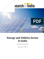 Energy and Utilities Sector in India Monthly Update January 2013