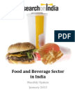 Food and Beverage Sector in India Monthly Update January 2013