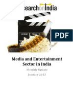 Media and Entertainment in India Monthly Update January 2013
