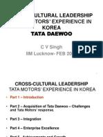 IIML Cross Cultural Leadership TDCV Feb 2013