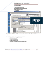 Installing Microsoft Office SharePoint Server 2007