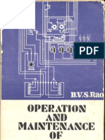 OPERATION AND MAINTENANCE OF ELECTRICAL EQUIPMENT (Volume I)
