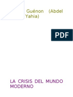 1927 La Crisis Del Mundo Moderno