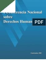 ASIES Memoria de la Conferencia Nacional de Derechos Humanos I, 2002
