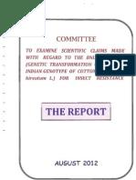 BNBt cotton Sopory Commitee Report