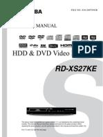 Toshiba Rd-xs27ke Service manual