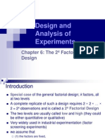 Ch 6 the 2 k Factorial Design