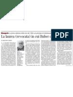Pubblicata La Tesi Di Laurea Di Martin Buber, Ne Scrive ARMANDO TORNO - Corriere Della Sera 11.02.2013