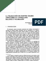 La traducción de fuentes árabes andalusíes al castellano