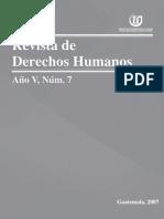 ASIES Revista de Derechos Humanos VII, 2007