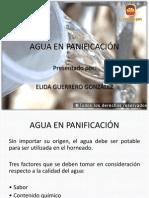 AGUA EN PANIFICACIÓN